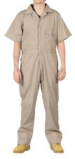 KEY Deluxe Overalls Khaki Mens Unlined Work Coveralls