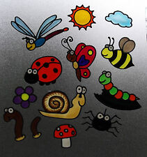Creepy crawlies & Flying Bugs stained glass effect window clings stickers decal