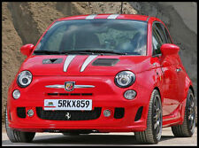 Fiat 500 Prancing Horse Graphics Kit - Front and Rear Stripes