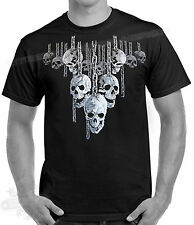 ROCK,GOTHIC,TATTOO,BIKER,CHAIN SKULL,T SHIRT,all sizes available