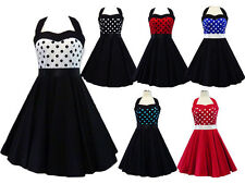 NEW VINTAGE ROCKABILLY PIN UP PARTY SWING FORMAL EVENING RETRO POLKADOT DRESS