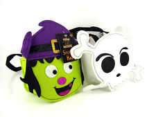 HALLOWEEN TRICK OR TREAT SPOOKY GLITTER BAGS WITCH SKULL PARTY BAG NEW
