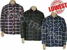 Mens Padded Quilted Lined Check Lumberjack Work Casual Shirt. RRP £20!!