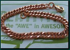 Ladies Solid Copper Link Bracelet 652G -1/4 inch wide - 6 1/2 to 9 inch lengths
