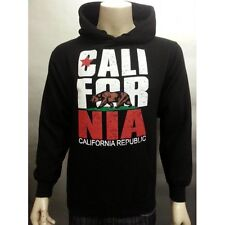 CALI PULLOVER SWEAT JACKET WITH HOODIE CALIFORNIA REPUBLIC 70% COTTON 30% POLY