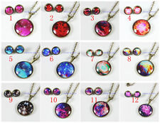 Galaxy Jewelry Space Star Necklace Nebula Earring Aurora Science Stud Gifts