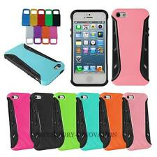In Daily Life Shock Proof 2 in 1 Silicone Rubber Case For Apple iPhone 4 4S 5
