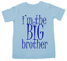 I'm the BIG Brother, sibling Funny Cute T-shirt Boy Top Gift Clothes Present