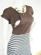 MIKA Breastfeeding Top Nursing Tops Shirt Tshirt  Maternity Clothes NEW Mocha