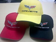 CORVETTE C6 SANDWICH BILL HAT/CAP RED YELLOW BLACK BUDS CHEVROLET ST MARYS OH