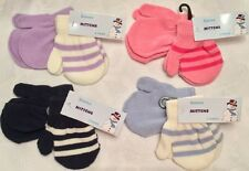 BABY BOYS & GIRLS LITTLE INFANT TICK TOCK STRIPED MAGIC MITTENS MITTS PACK OF 2
