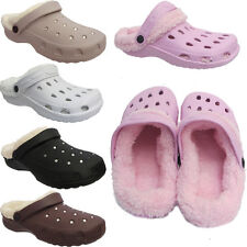 Ladies Faux Fur Lined Cosy Ladies Slippers Winter Sandals Mules Clogs Size Uk