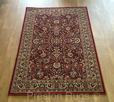 Tapis Perse Traditionnel Rouge Style Soie Taille S M L