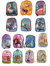 KIDS DISNEY PIXAR SMALL BACKPACK RUCKSACK SCHOOLBAG VARIOUS DESIGNS NEW