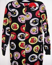 Women's ANGRY BIRDS One Piece Fleece Footed Footie Pajamas 2287 S-2X