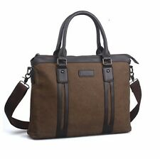 Briefcase Shoulder bags Canvas quality up leather Black Brown Vintage bags