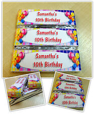 Personalised Chocolate Disco Birthday Party Favours - Wrappers or Pre-made! N6