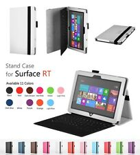 """PU Leather Folio Cover Stand Case For Microsoft Surface RT 10.6""""+Pen+Film*3 UK"""