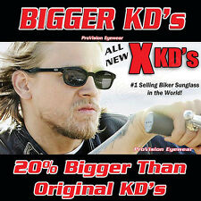 NEW BIGGER X-KD's Jax Teller Sons of Anarchy SAMCRO Biker Glasses Sunglasses