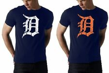 old english D detroit tigers t-shirt -- 100% cotton