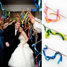 48P* wedding twirling streamers ribbon stick with bell garland party favor B1-12
