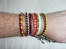 New Cool Plaited Faux PU Leather Surfer Bracelet Wristband - 7 colours to choose