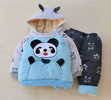 Winter Thick Warm Baby boys clothes 2pcs/Set Hoody+Pants Girls clothing outfit