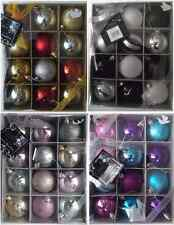 CHRISTMAS 12 PACK BAUBLES ASSORTED PATTERN BAUBLES XMAS TREE DECORATION GIFT NEW
