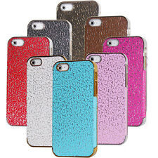 Vintage Golden Bumper Frame Leather Chrome Back Case Cover For iPhone 5 G 5GS 5S