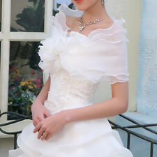 New White/Ivory Wedding Dress Accessories Shrug Coat Bridal Shawl/Wraps/Jackets