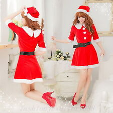 Hot Sexy Women Babydoll Lingerie Set Party Santa Dress Xmas Claus Costume Outfit