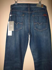 $198 Men's Seven 7 For All Mankind 100% Cotton Standard Straight Jeans 31 33