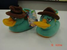 NWT Toddlers Agent P Phineas and Ferb Sock Top Slippers Character