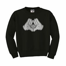 Mickey hands illuminati diamond JayZ TGOD ovoxo ymcmb minnie crewneck sweatshirt