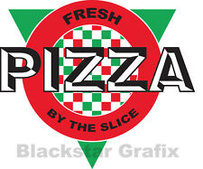 Pizzeria Pizza Concession Cart Decal - Cafe, Restaurant or Food Truck Sign
