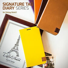 Korean Real Genuine Leather Diary Cell Phone Case for Samsung Galaxy Note 3