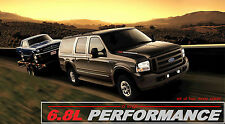 Ford Excursion 6.8L Performance Hood Decals - Set of two pick your color!