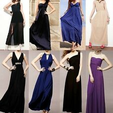 Elegant Evening Casual Cocktail Party Prom Gown Bridesmaid Long Maxi Lady Dress