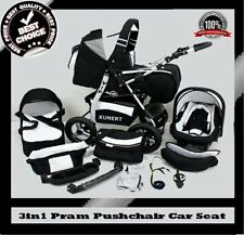 VIP 3in1 BABY PRAM PUSHCHAIR CAR SEAT SELECTION OF COLOURS WHEELS REDUCED PRICE