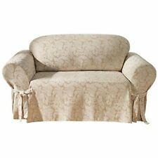 SUREFIT Slipcovers Scroll Champagne Off White Burgundy Brown Slipcover