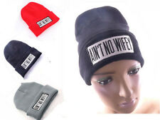 AIN'T NO WIFEY Hip-Hop Unisex Youth Cool Beanie Knited Hat 3 colors