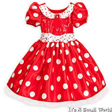 Disney Store Red Minnie Mouse Costume Dress for Girls Size 5 6 7 8 NWT