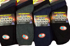 Mens Thermal Socks 3, 6 12 Black or Mixed Colours UK 11-14 Bigfoot **FREEPOST***