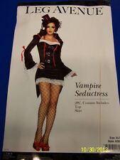 2 pc. Vampire Seductress Countess Fancy Dress Up Halloween Sexy Adult Costume
