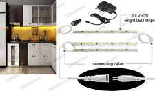 Warm White Linkable LED Strip Lights for Kitchen Unit Glass Display Lighting