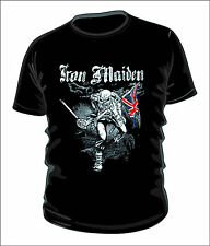 Iron maiden the trooper heavy metal band t-shirt 100% cotton