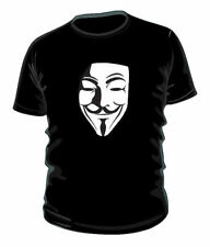 Anonymous hackers - v for vendetta mask t-shirt 100% cotton