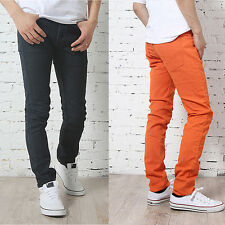 Young Boys Candy Colors Skinny Stretch Pencil Jeans Hot Slim Fit Casual Trousers