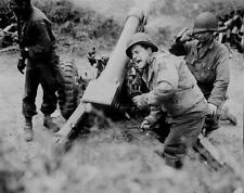 WWII MORTAR TEAM GLOSSY POSTER PICTURE PHOTO wall decor 2 world war army men 357