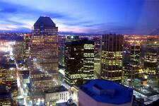 CALGARY SKYLINE AT NIGHT GLOSSY POSTER PICTURE PHOTO canada alberta canadian 633